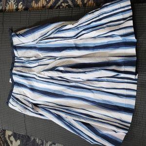 Talbots blue striped skirt